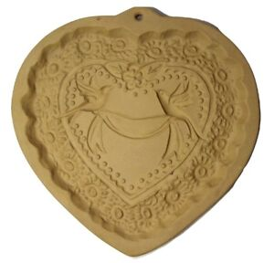 Brown-Bag-Cookie-Mold-Victorian-Heart-Romantic-Wedding-Doves-Ribbon-Flowers-1985