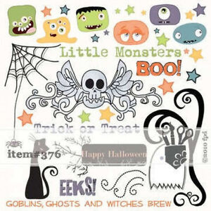 Fancy-Pants-Trick-or-Treat-page-of-8-x-8-sheet-of-Rub-ons-Enjoy-Your-Fun