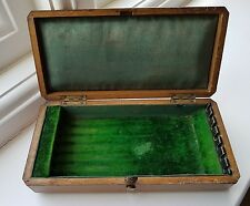 Good Antique Victorian Oak Box Only for 7 Day Razor set , Treen, Wood ware