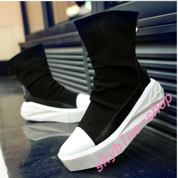 Mens Platform Punk Ankle Boots High Top Fashion Korean Sneakers Sports shoes New