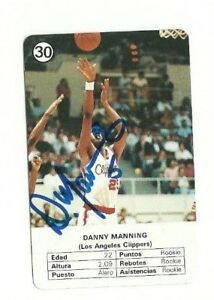 Danny Manning 1988 Fournier NBA Estrellas signed autographed card Clippers