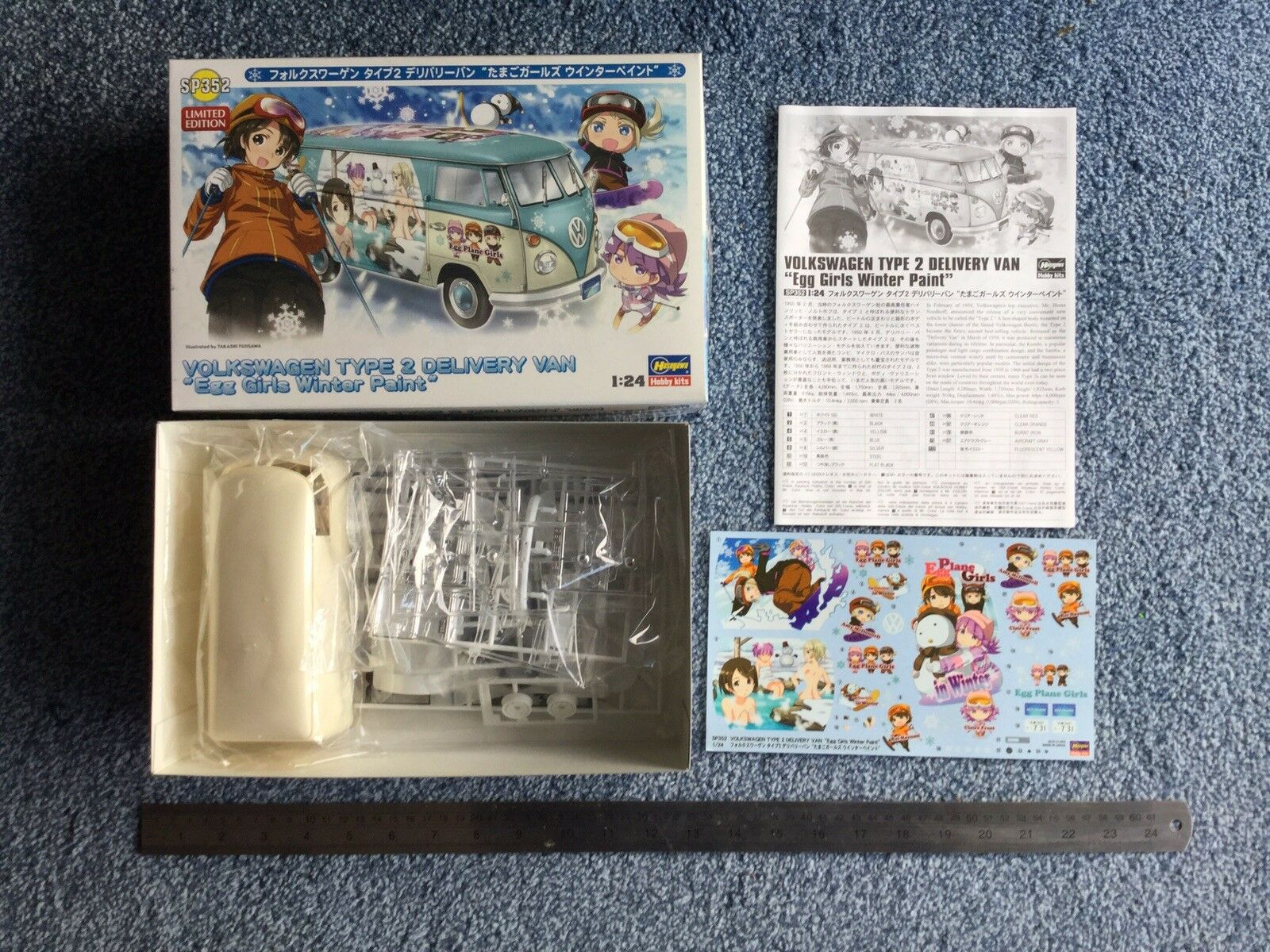 Hasegawa 1 24 Volkswagen Type 2 Delivery Van 'Egg Girls Winter Paint' kit