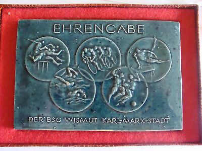 Ehrengabe Der Bsg Wismut Karlmarx Stadt Für Hervor.leistungen 180x120mm Niedriger Preis