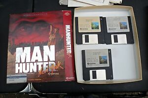 Vintage-Sierra-Manhunter-New-York-PC-Game-3-5-034-Disk-1988-Man-Hunter-ATARI-ST