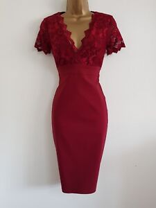 Image Is Loading New Ex Dp 8 18 Wine Red Lace