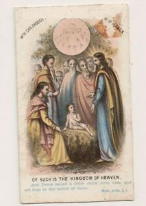Vintage-CDV-Religious-Card-of-Such-is-The-Kingdom-of-Heaven
