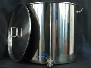 100ltr-stainless-steel-stockpot-with-tap-mash-tun-hlt-kettle-with-fermenter