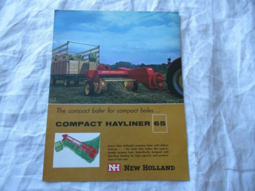 New Holland compact hayliner 65 baler brochure