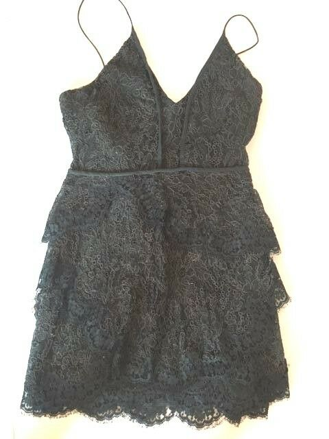 e4e3bce2c33b Celebrity ISABEL MARANT DARK hunter green structured Lace mini slip dress S  M