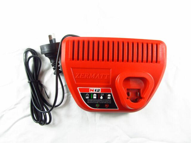 AU stock Charger For Milwaukee M12 12V 48-59-2401 48-11-2402 Li ion battery