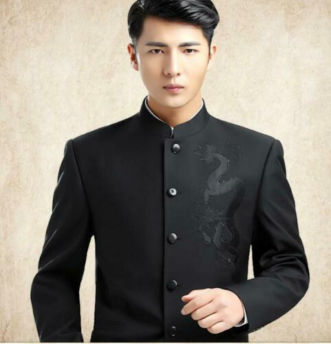 Ne Stand Dragon heren Kraag Chinese Style Tuniek Blazer Jack Embroidery Retro Ov1qUO