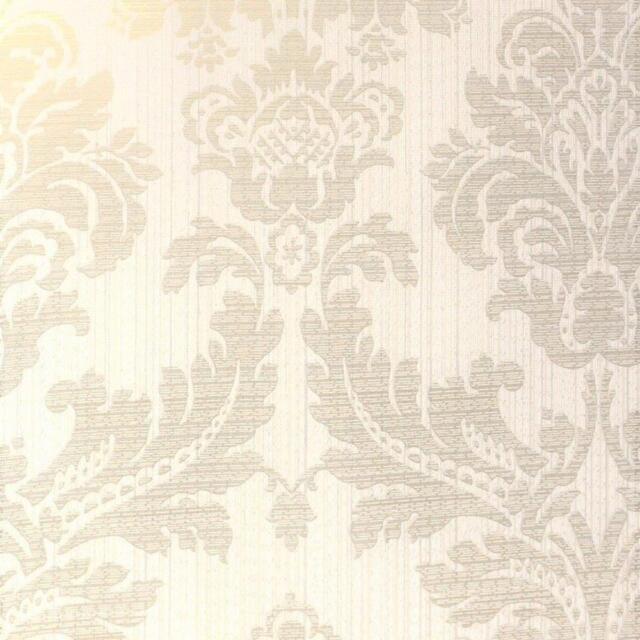 Fd25058 Tempus Luxury Damask White Gold Fine Decor Wallpaper