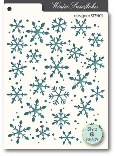 "5.6/"" x 4.4/"" MEMORY BOX 88609  /""Snowflakes/"" 1 Designer Stencil"