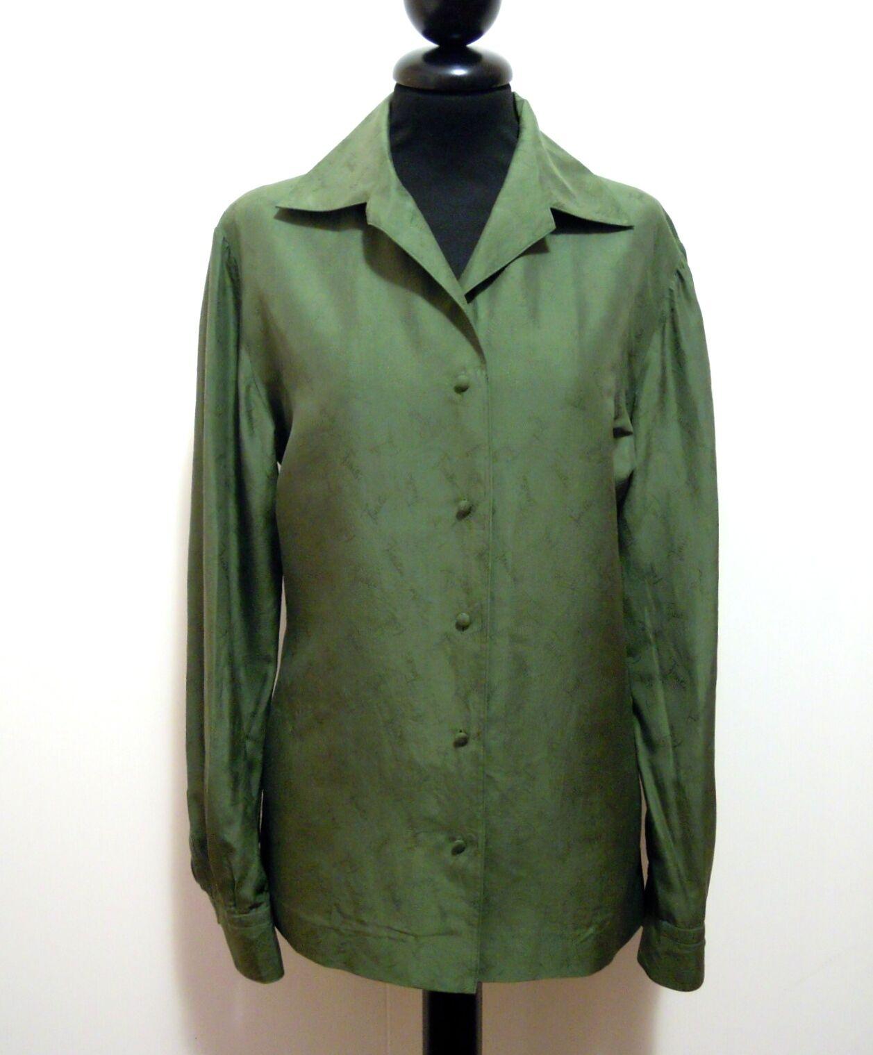EMILIO PUCCI VINTAGE '60 Camicia damen Seta Silk Woman Shirt Sz.M - 44