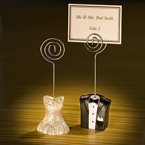 Bride and Groom Place Card Holders Wedding Favors