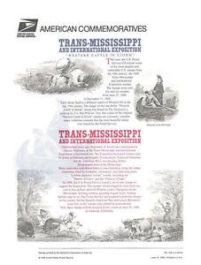 #540 1c-$2.00 Trans-Mississippi Centennial #3209-3210 Commemorative Stamp Panel