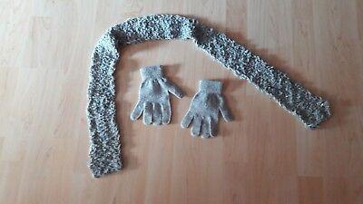 Diszipliniert Mädchen Handschuhe Und Schal Länge 110 Grau
