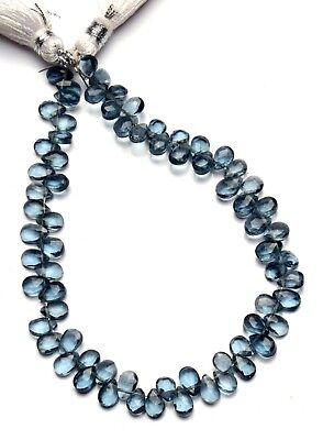 "Emerald Color Hydro Quartz Smooth 10x25MM Long Pear Shape Briolette Beads 6/"""
