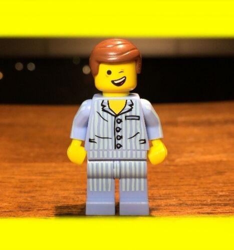 LEGO MOVIE EMMET PAJAMAS GENUINE MINIFIGURE Winking Lopsided Smile Yawning RARE