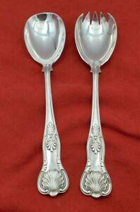 Vintage-English-Sheffield-Kings-Pattern-Silverplate-Salad-Serving-Set-10871
