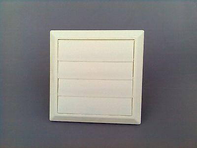 Außenverschlussklappe Kunststoff weiß mit 4 Klappen