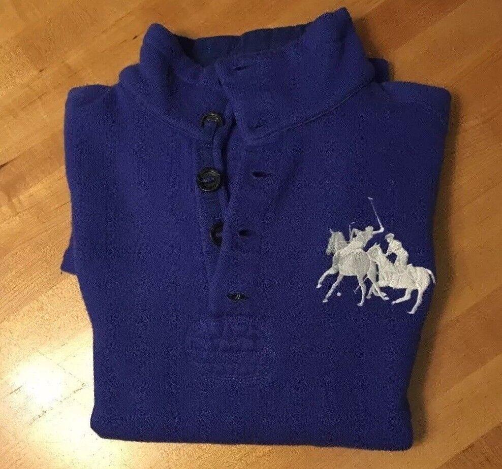 Polo Ralph Lauren Big Pony Mercer Team Winter Cup 2008 bluee Mens L Wool Sweater