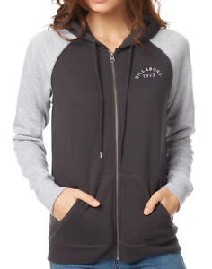 NEW-BILLABONG-MOVE-ON-UP-WOMENS-10-HOODED-JUMPER-JACKET-HOODIE-FLEECE-BLACK