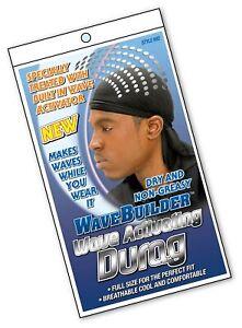 Wave Builder Premium Hair Wave Seamless Durag Black