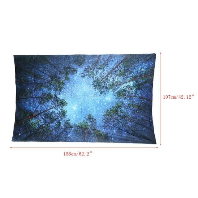 Reusable Jungle Starry Sky Wall Tapestry Fine Workmanship Useful Home Decoration