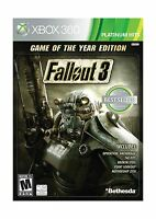 Fallout 3: Game Of The Year Edition Xbox 360 Box Free Shipping