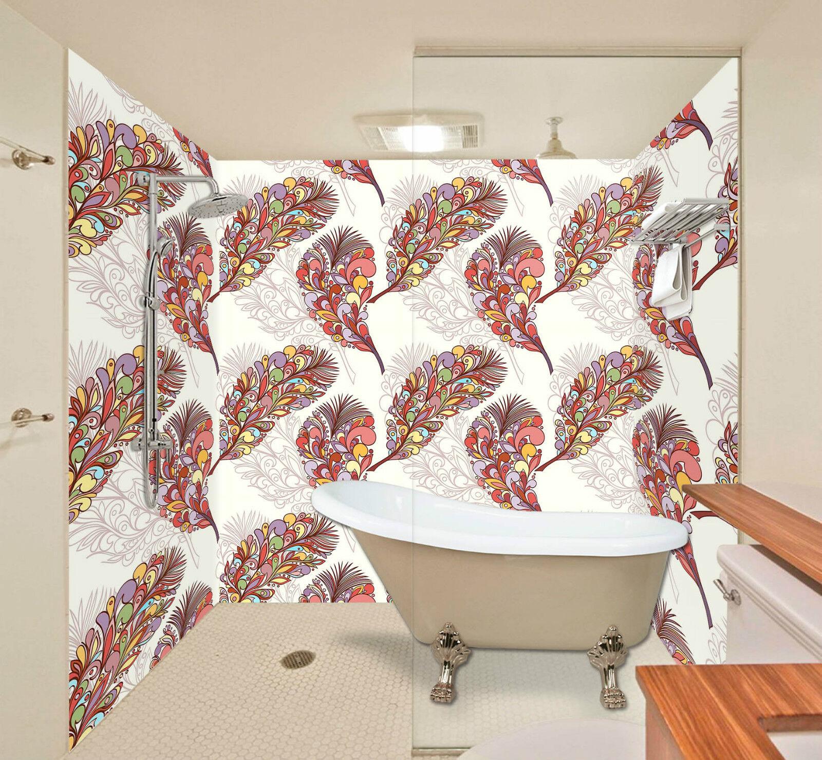 3D Farbe Feathers 128 WallPaper Bathroom Print Decal Wall Deco AJ WALLPAPER CA