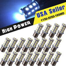 20 X Cool White RV Camper Backup Reverse 1156 1141 1073 BA15S 18-LED Light bulbs