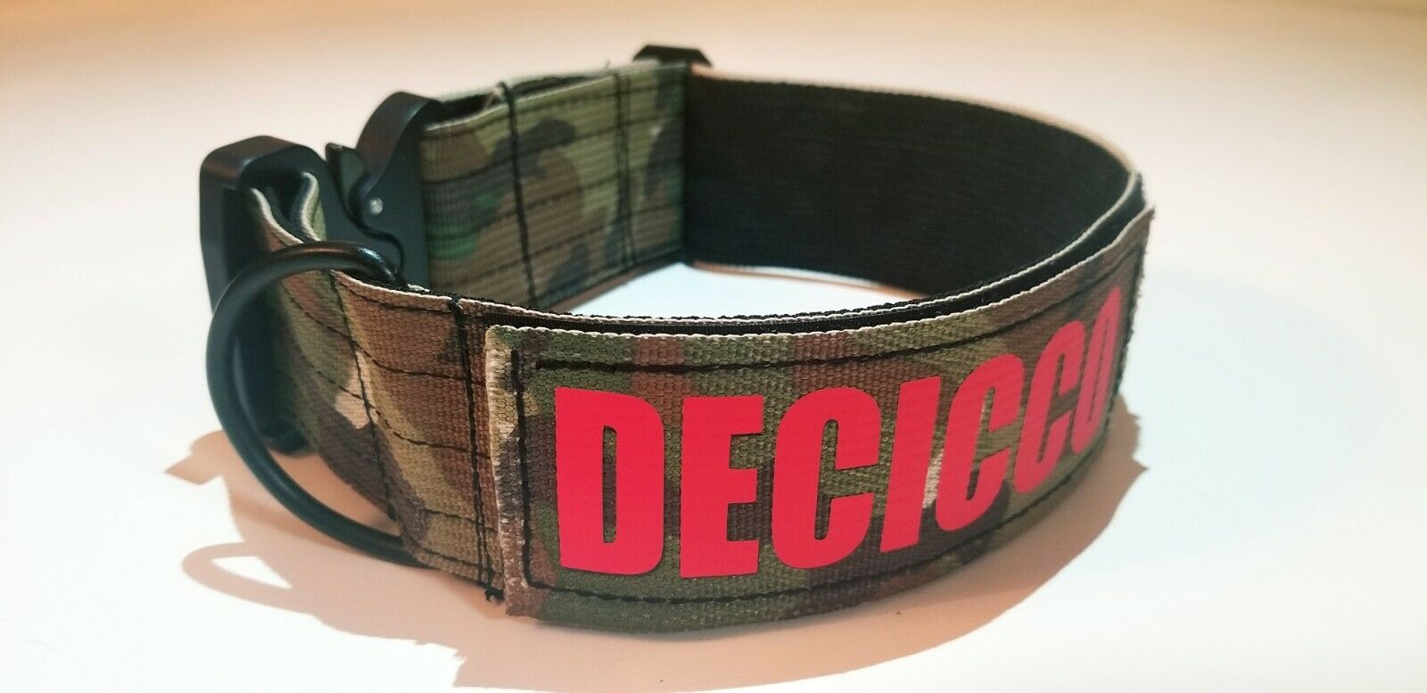 k9 Tactical Dog Collar Personalized 2 Multicam Green with Name Patch