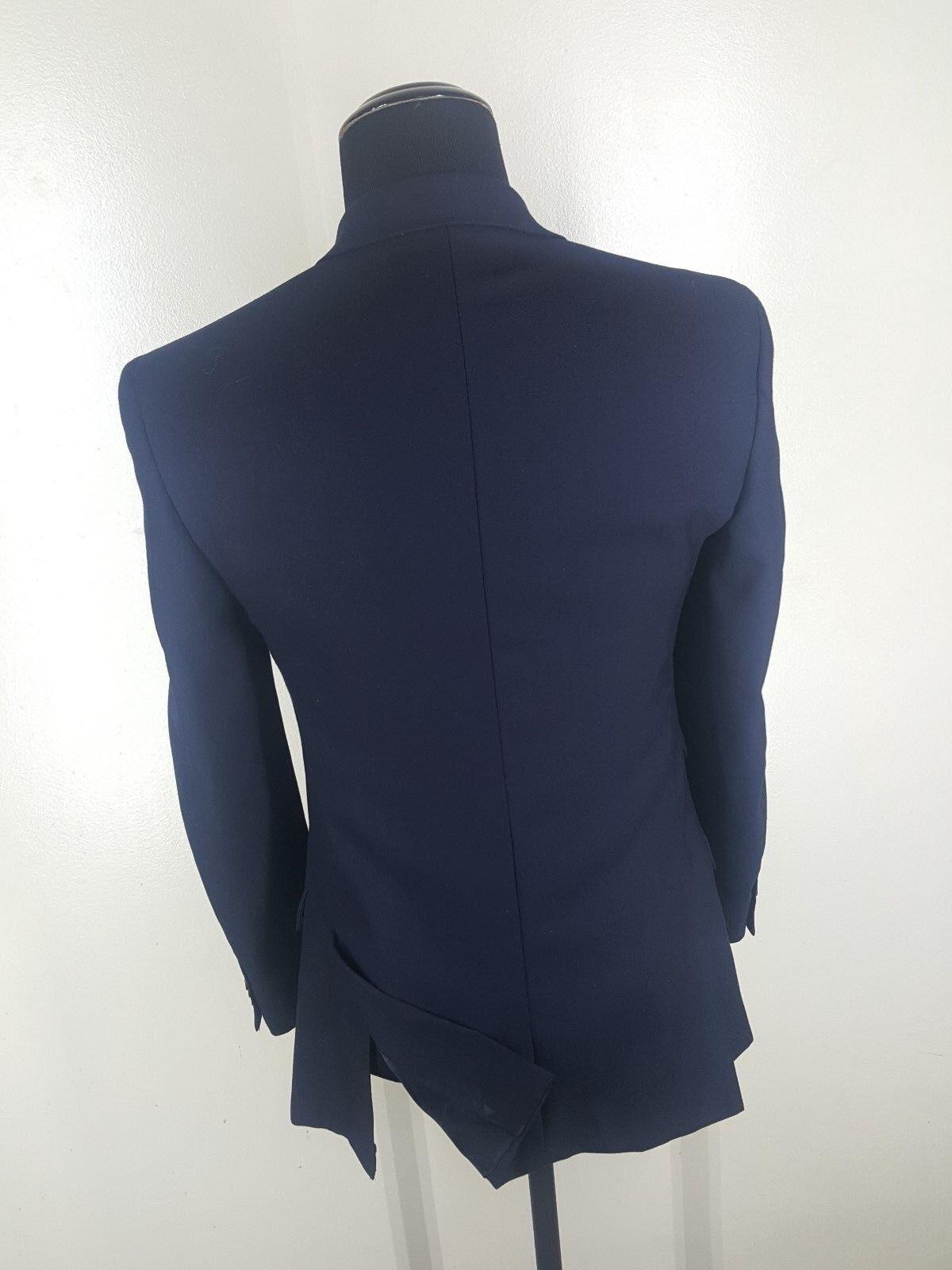 T.M. blu LEWIN  blu T.M. Blazer 3 Btn Side Vents 100% Wool 40R  Fit 38-40 Reg 85466b