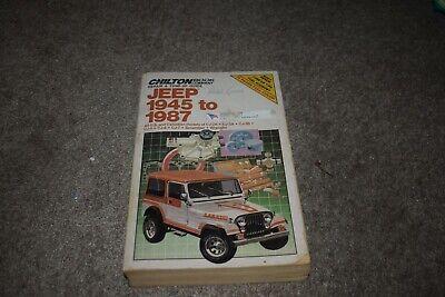 1945-1987 Jeep CJ-2A CJ-3A CJ-3B CJ-5 CJ-6 CJ-7 Scrambler ...