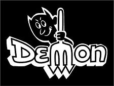 Demon Car Sticker Decal Graphic Vinyl Label  White