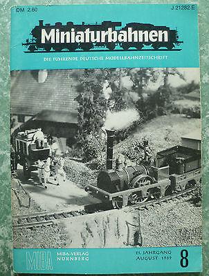 """""""miniaturbahnen"""".august 1969.miba-verlag,nÜrnberg. Le Materie Prime Sono Disponibili Senza Restrizioni"""
