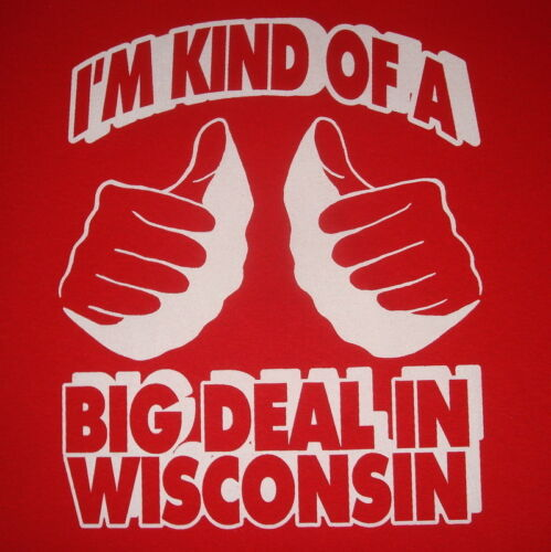 womens wisconsin vintage red basketball football college funny big deal t shirt