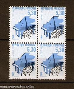 PREOBLITERES-1990-YT-222-bloc-de-4-TIMBRES-NEUFS-LUXE