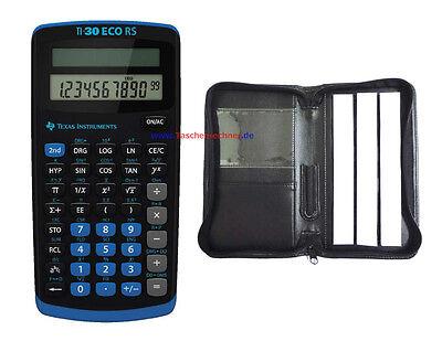 Schutztasche und Garantie TI 30 ECO RS Taschenrechner