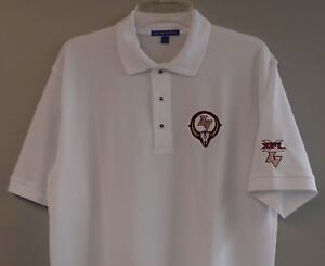 Image is loading XFL-Las-Vegas-Outlaws-Mens-Embroidered-Polo-Shirt- 310fb0c63