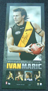 Details about IVAN MARIC RICHMOND TIGERS HAND SIGNED AFL PLAYERS PRINT  MARTIN COTCHIN RANCE