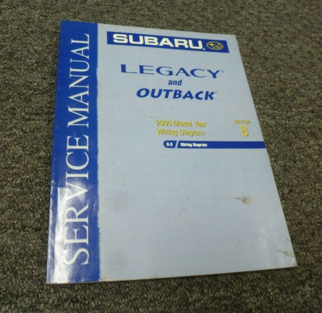 2000 Subaru Legacy Sedan Wagon Electrical Wiring Diagrams Manual L Gt Limited