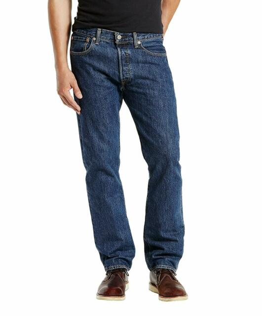 NEW MENS LIVIS ORIGINAL 501 DENIM JEANS REGULAR FIT waist size 30,34,36,38,40