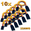 10-servos-Graupner-JR-robbe-Futaba-extension-cable-30-cm-22AWG-cable-RC miniatura 1
