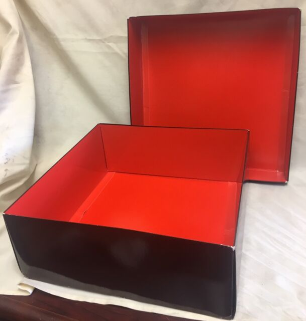 Coach Large Gift Box Brown with Inside Red 14