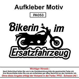 Bikerin-im-Autoaufkleber-Aufkleber-Fun-Spass-Sticker-Tuning-Lustige-Sprueche