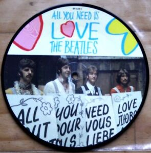 New-Beatles-Picture-Disc-7-034-Vinyl-All-You-Need-Is-Love-The-20th-Anniversary
