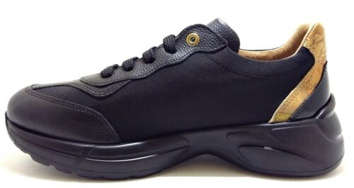 ALVIERO MARTINI 1 CLASSE Junior Geo scarpe sneakers donna pelle tessuto zeppa