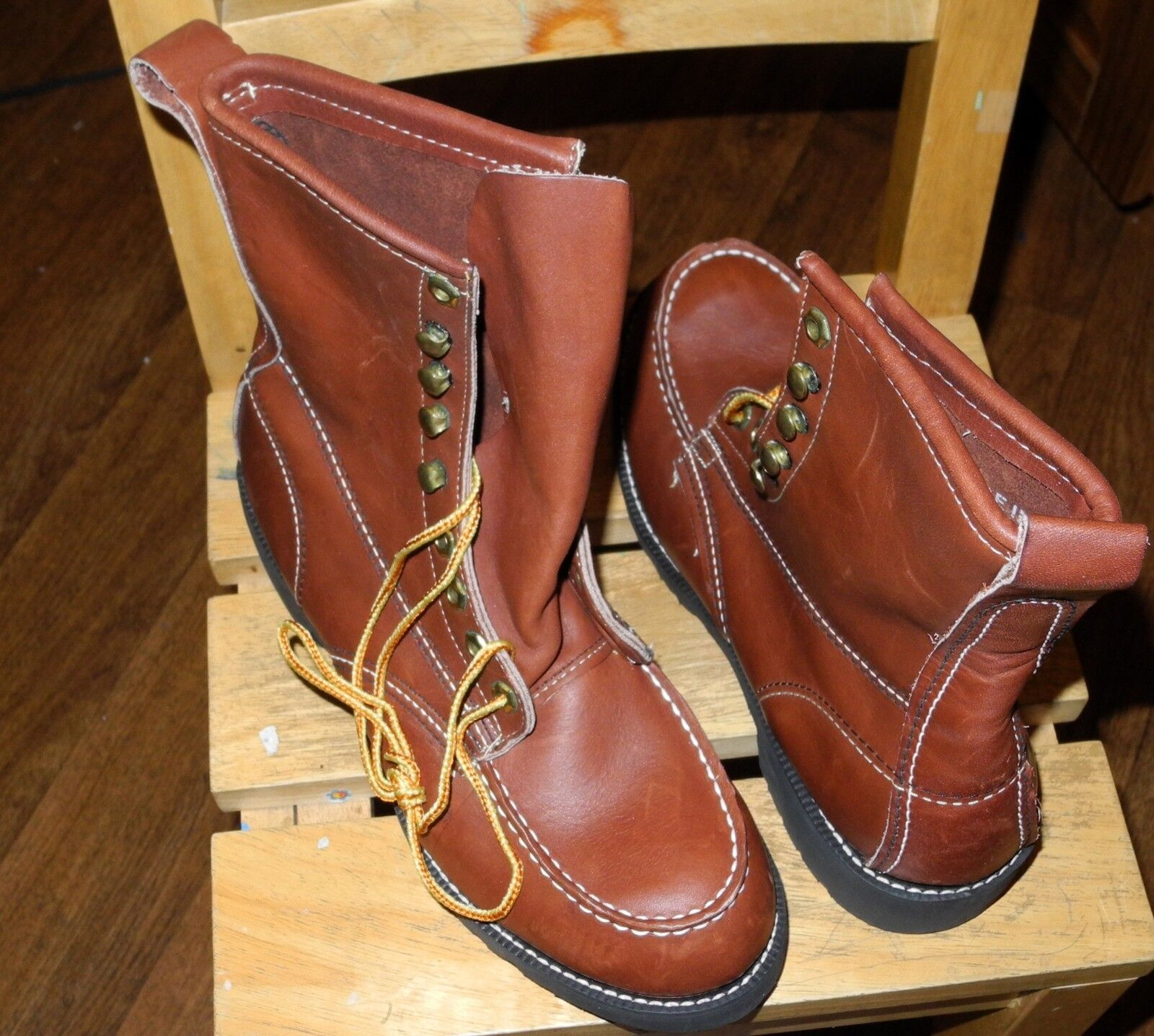 NEW Georgia Giant Boot 25186 Oil Resistant Sole Full Work Brown Boot Sz 6.5R